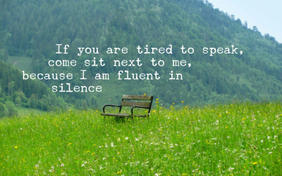 To sit in Silence