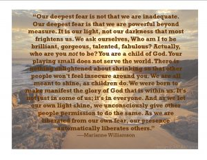 Marianne Williamson, Our Deepest fear