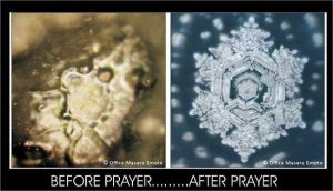 water before and after prayer emoto